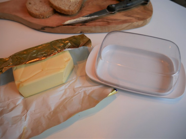 full cream butter and mepal butter dish