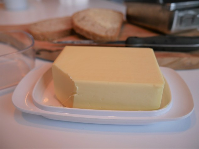 Plastic mepal butter dish